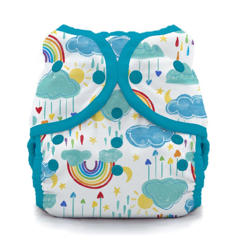 Image of Thirsties Duo Wrap | Snap Cloth Diaper Thirsties Size 1 (6-18lbs) Rainbow