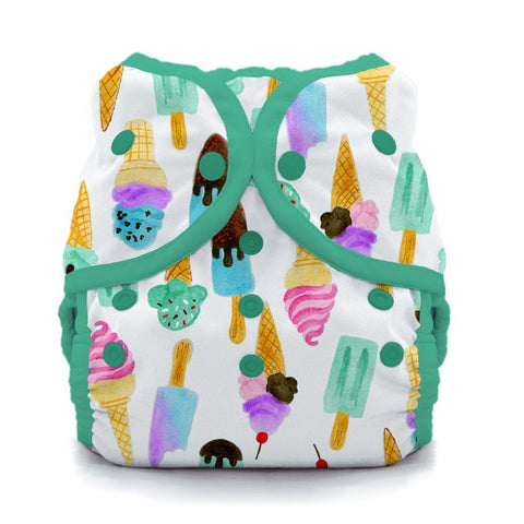 Image of Thirsties Duo Wrap | Snap Cloth Diaper Thirsties Size 1 (6-18lbs) We All Scream