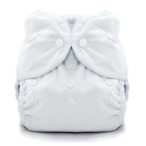 Image of Thirsties Duo Wrap | Snap Cloth Diaper Thirsties Size 1 (6-18lbs) White