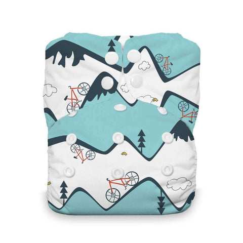 Image of Thirsties Natural One-Size All-In-One Diaper Cloth Diaper Thirsties Mountain Bike