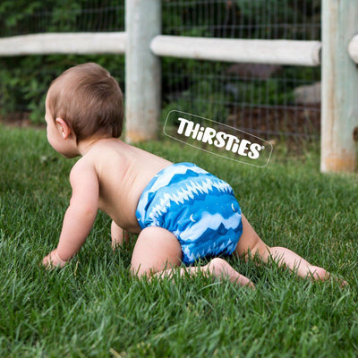 Thirsties Stay Dry Natural One-Size All-In-One Diaper Cloth Diaper Thirsties