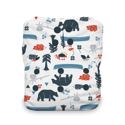 Thirsties Stay Dry Natural One-Size All-In-One Diaper Cloth Diaper Thirsties Adventure Trail