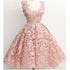 Dusty Pink Lace Vintage Pretty Popular Homecoming Dresses, BG51454 - Bubble Gown