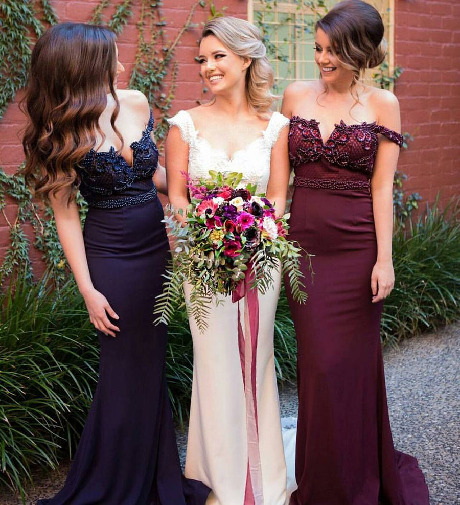 Long bridesmaid dresses bubble gown affordable burgundy off shoulder mermaid sexy long bridesmaid dresses bg51471 ombrellifo Choice Image
