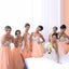 A Line Young Girls Halter Sweet Heart Chiffon Wedding Bridesmaid Dresses, BG51051