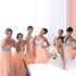 A Line Young Girls Halter Sweet Heart Chiffon Wedding Bridesmaid Dresses, BG51051 - Bubble Gown