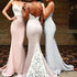 Sexy Mermaid Sweetheart Backless Lace Long Bridesmaid Dresses, BG51373