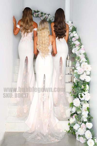 Mermaid Elegant Sexy Mismatched Sexy Charming Long Bridesmaid Dresses, BD017