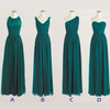 Cheap Simple Mismatched Styles Chiffon Long Teal Green Bridesmaid Dresses, BG51059