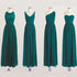 Cheap Simple Mismatched Styles Chiffon Long Teal Green Bridesmaid Dresses, BG51059 - Bubble Gown