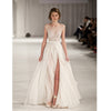 A Line Ivory Side Split Sexy Charming Long Prom Dress, BG51491