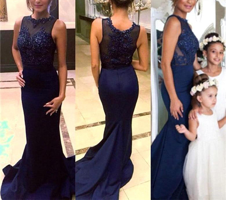 Affordable Mismatched Sexy Mermaid Royal Blue Long Bridesmaid Dresses, BG51292 - Bubble Gown