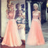 Beautiful Sweet Heart Affordable Long Prom Dresses with Applique, BG51082 - Bubble Gown