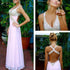 A line Junior Sexy Formal Backless Long Cheap Prom Dress, BG51094 - Bubble Gown