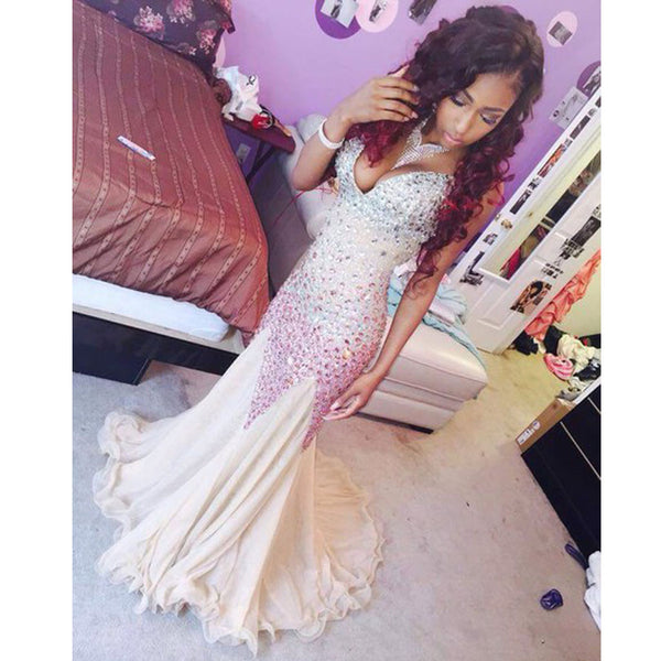 Charming Sweet Heart Sexy Mermaid Sparkle Long Prom Dresses, BG51105 - Bubble Gown