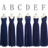 Classic Popular Navy Blue Mismatched Cheap Long Bridesmaid Dresses, BG51260 - Bubble Gown