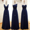 Chiffon Mismatched Simple Cheap Long Wedding Bridesmaid Dresses, BG51309