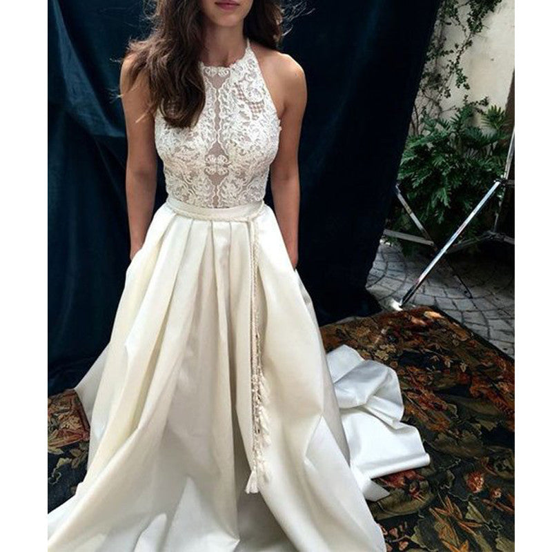 Charming Lace Top Long Impressive Affordable Prom Dress, BG51489