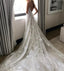 Applique Sexy Online V Neck Ivory Fashion Long Prom Wedding Dresses, BG51501 - Bubble Gown