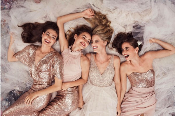 Affordable Mismatched Sequin Charming Long Bridesmaid Dresses, BG51563 - Bubble Gown