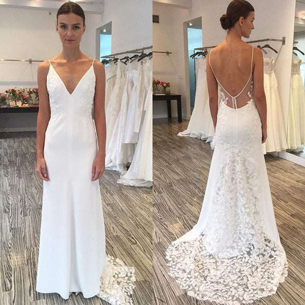 Unique Lace Open Back V Neck Affordable Online