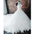 Lace Halter Gorgeous Brides Long Wedding Dresses with Long Train, BG51579 - Bubble Gown