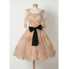 Half Sleeves Tulle Applique Lovely Affordable Short Homecoming Dresses, BG51603