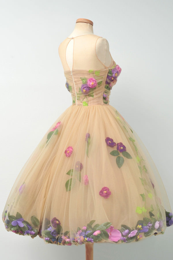 Beautiful Unique Flowers Gorgeous Lovely Short Homecoming Dresses, BG51605 - Bubble Gown