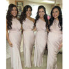 One Shoulder Jersey Elegant Cheap Long Bridesmaid Dresses, BG51607