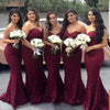Elegant Sweetheart Lace Mermaid Cheap Long Bridesmaid Dresses, BG51614