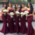 Elegant Sweetheart Lace Mermaid Cheap Long Bridesmaid Dresses, BG51614 - Bubble Gown