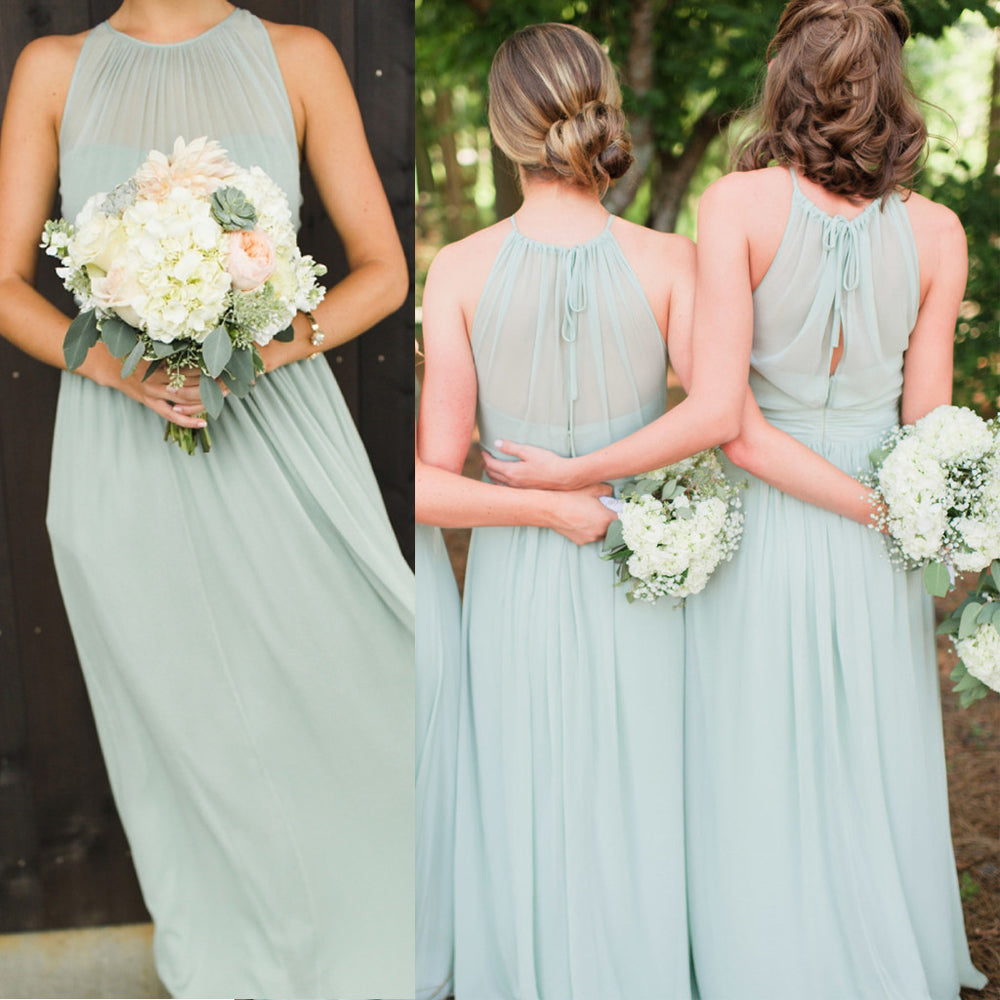 Charming Chiffon Formal Wedding Party Guest Long Bridesmaid Dresses, BG51616