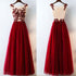 Formal Tulle Applique Inexpensive Elegant Long Evening Prom Dresses, BG51623 - Bubble Gown