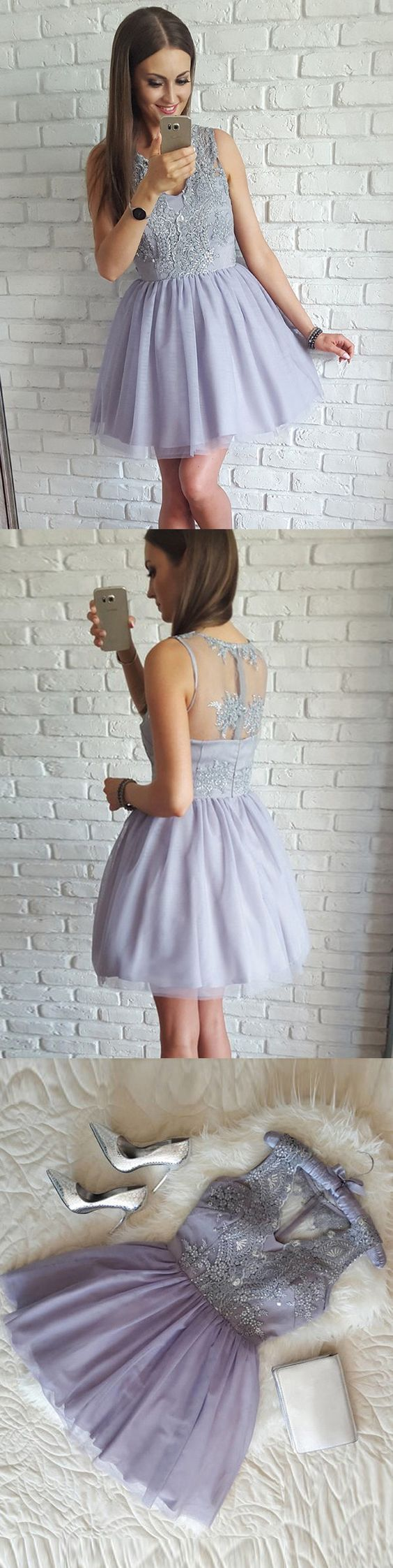 Cheap Lovely Lavender Junior Graduation School Short Homecoming Dresses, BG51631