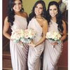 One Shoulder Jersey Elegant Cheap Long Bridesmaid Dresses, BG51639