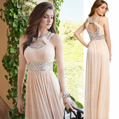 Simple Champange Formal Cheap A Line Online Long Prom Dress, BG51044