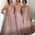 Gorgeous Pretty New Arrival V-Neck Long Bridesmaid Ball Gown, BG51275 - Bubble Gown