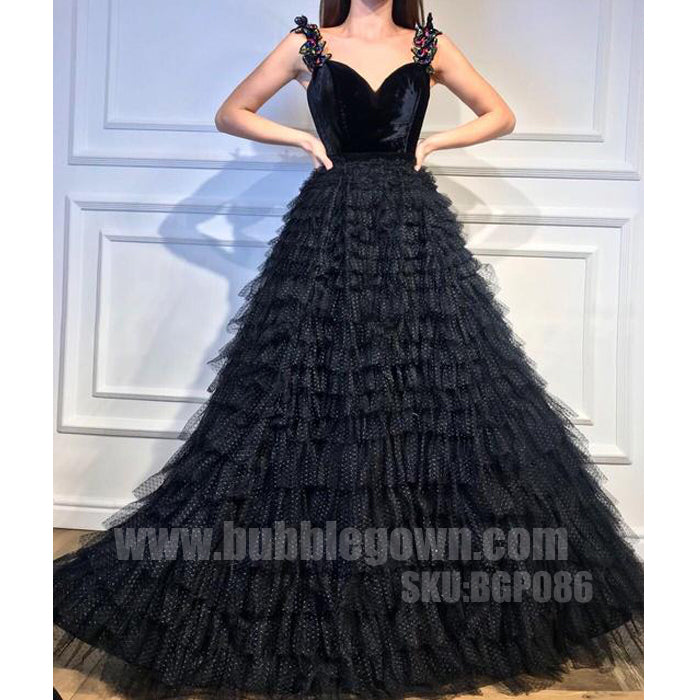 Black Sweet Heart Formal Inexpensive Evening Long Prom Dresses ...