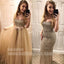 Two Piece Mermaid Sparkly Sexy Inexpensive Long Prom Dresses, BGP091