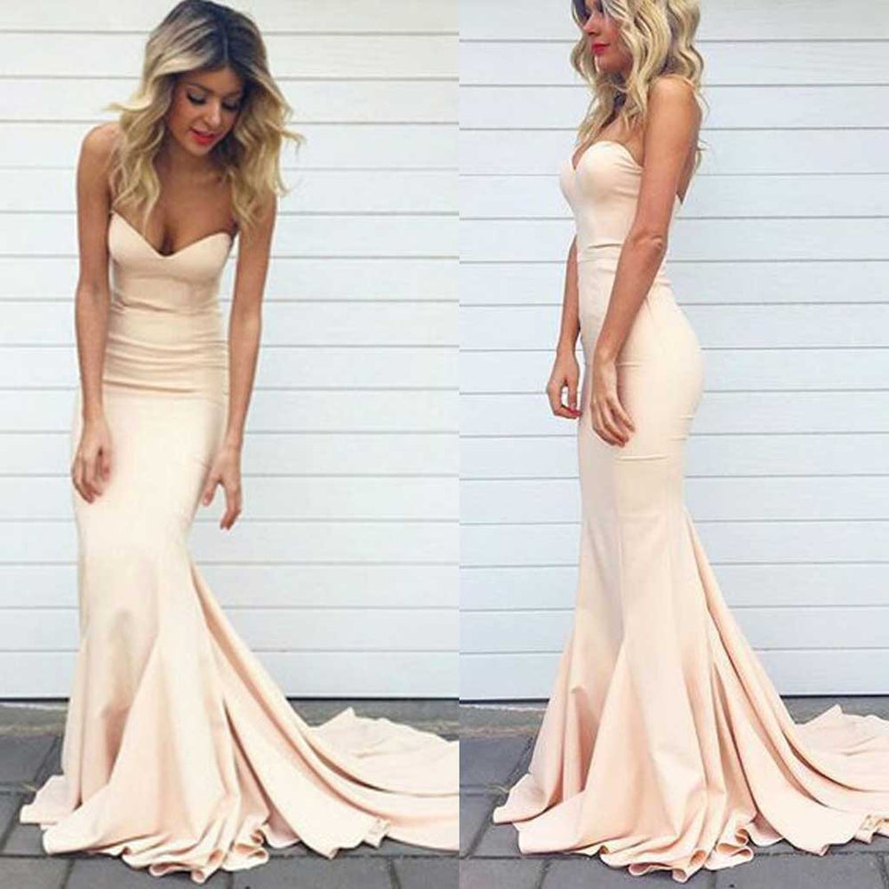 Simple Sweetheart Mermaid Sexy Long Occasion Dress for Wedding Party, BG51341