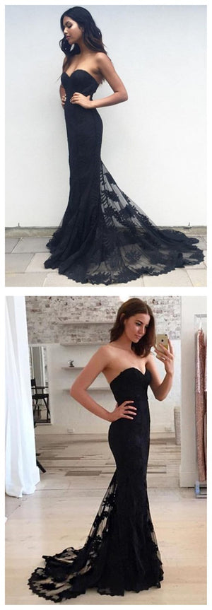 Affordable Mermaid Sexy Sweetheart Long Lace Prom Dresses, BG51147