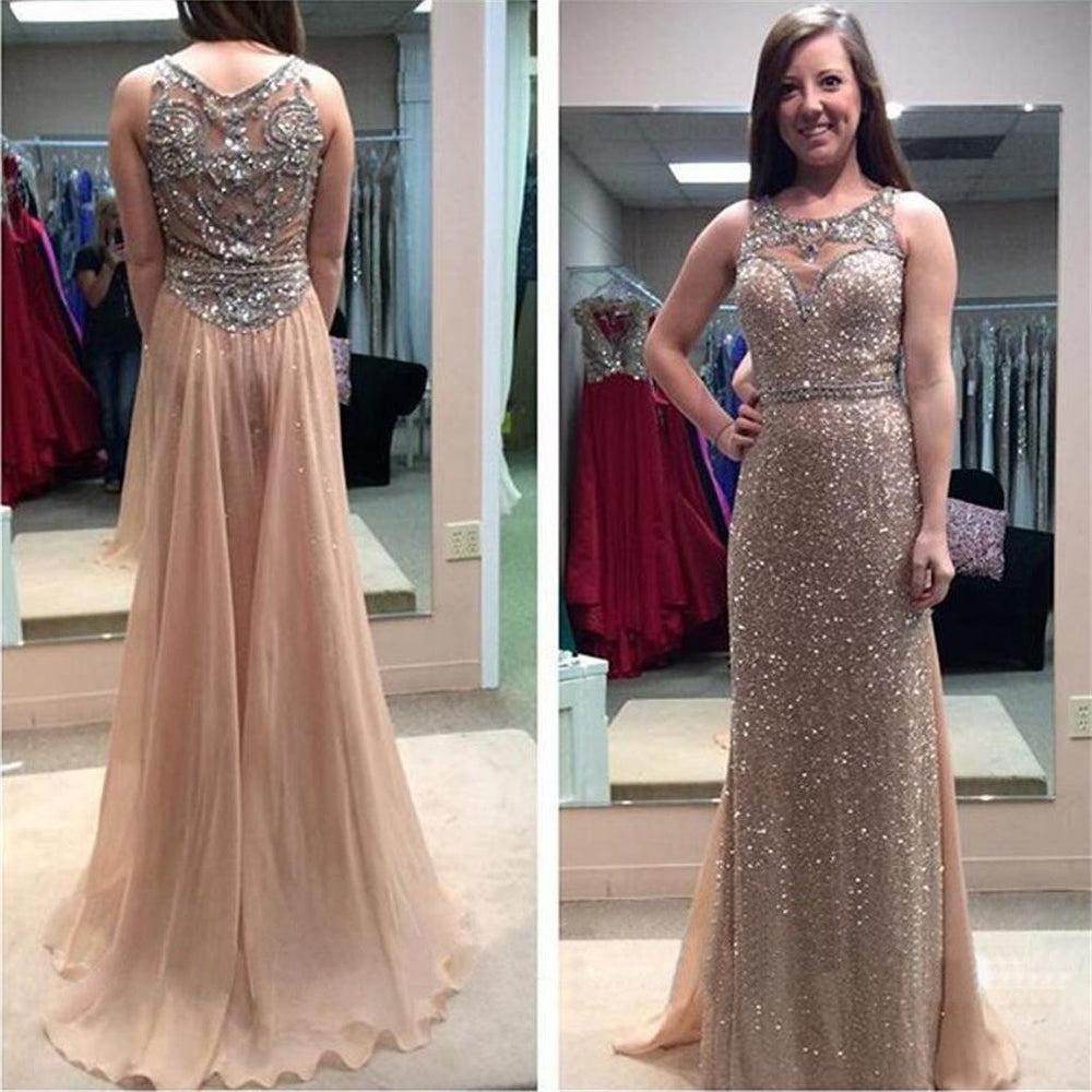 Beading Sequin Sparkle Glittery Long Evening Prom Dresses, BG51139