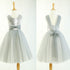 Round Neck Silver Sequin Tulle Pretty Little Girl Dresses For Wedding Party, Flower Girl Dresses, FG003