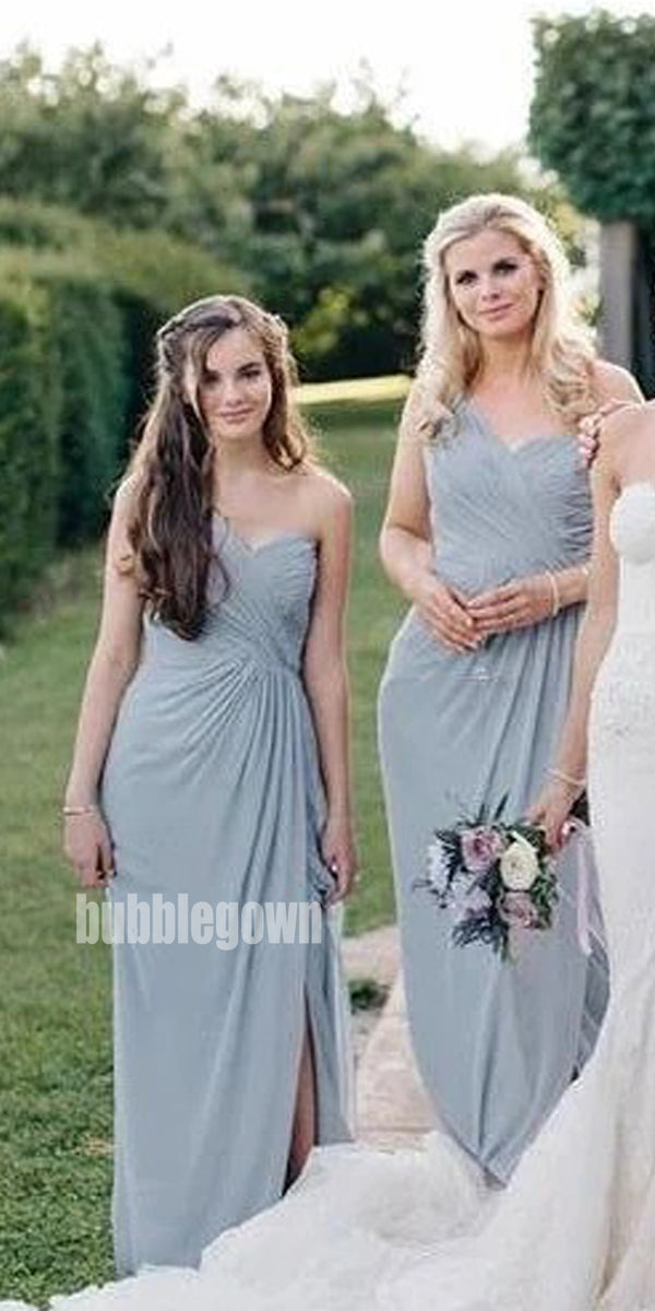 Rome Style One-shoulder Long Bridesmaid Dresses BMD005