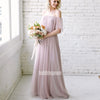 Elegant Sabrina Chiffon Long Bridesmaid Dresses  BMD043