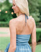 Elegant Halter Chiffon Long Bridesmaid Dresses  BMD045