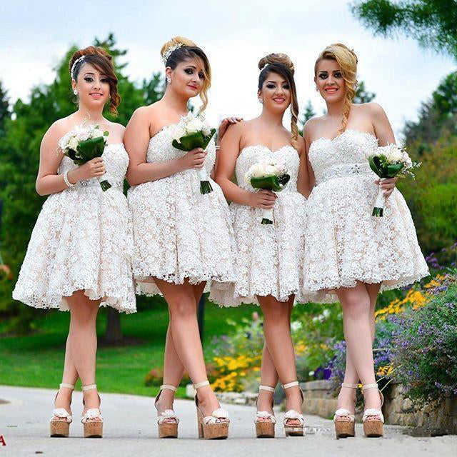 Pretty Sweetheart Lace Lovely Short Bridesmaid Dresses, BG51359