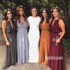 A-line Formal Side Slit Long Bridesmaid Dresses GDW106