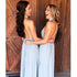 Open Back A Line Halter Chiffon Cheap Long Wedding Bridesmaid Dresses, BGP287