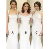 Mismatched Elegant Mermaid Affordable Long Wedding Bridesmaid Dresses, BGP291